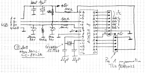 Schema Elettrico Usb : Una ciabatta controllata da usb raspibo