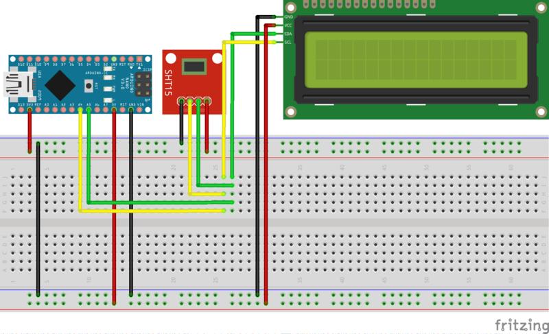 Thermal sensor and I2C lcd - raspibo